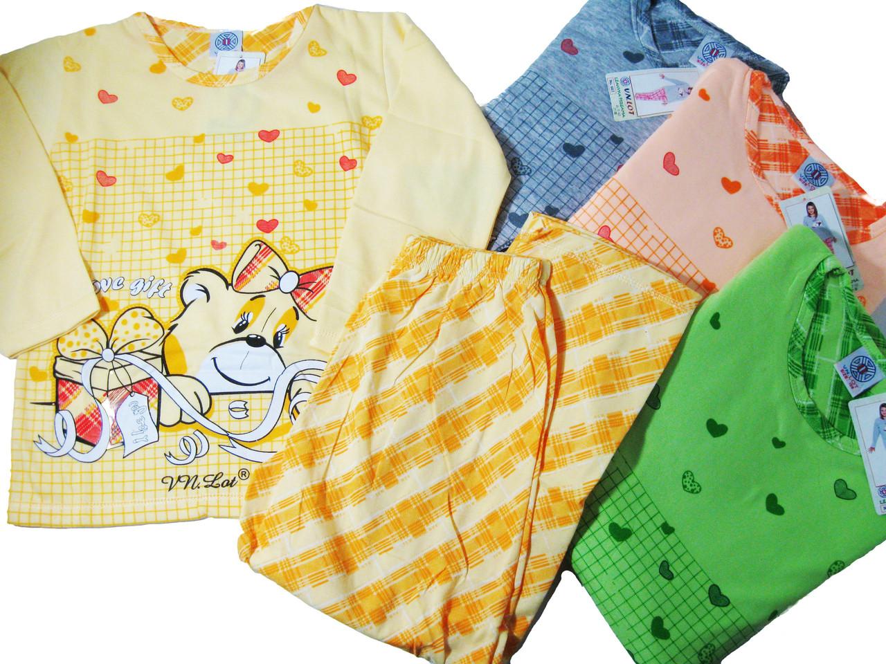 Пижама для девочек трикотажная с начесом, размеры 134-164, арт. 667