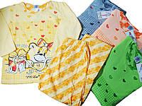 Пижама для девочек трикотажная с начесом, размеры 134-164, арт. 667, фото 1