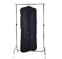 Чехол для верхней одежды с ручками 60*150*15 см (черный)