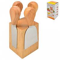 Набор ножей для нарезки сыра с подставкой