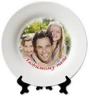 Фото на тарелках. Печать на тарелках