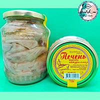 Печень трески 720 грамм натуральная в стеклянной банке