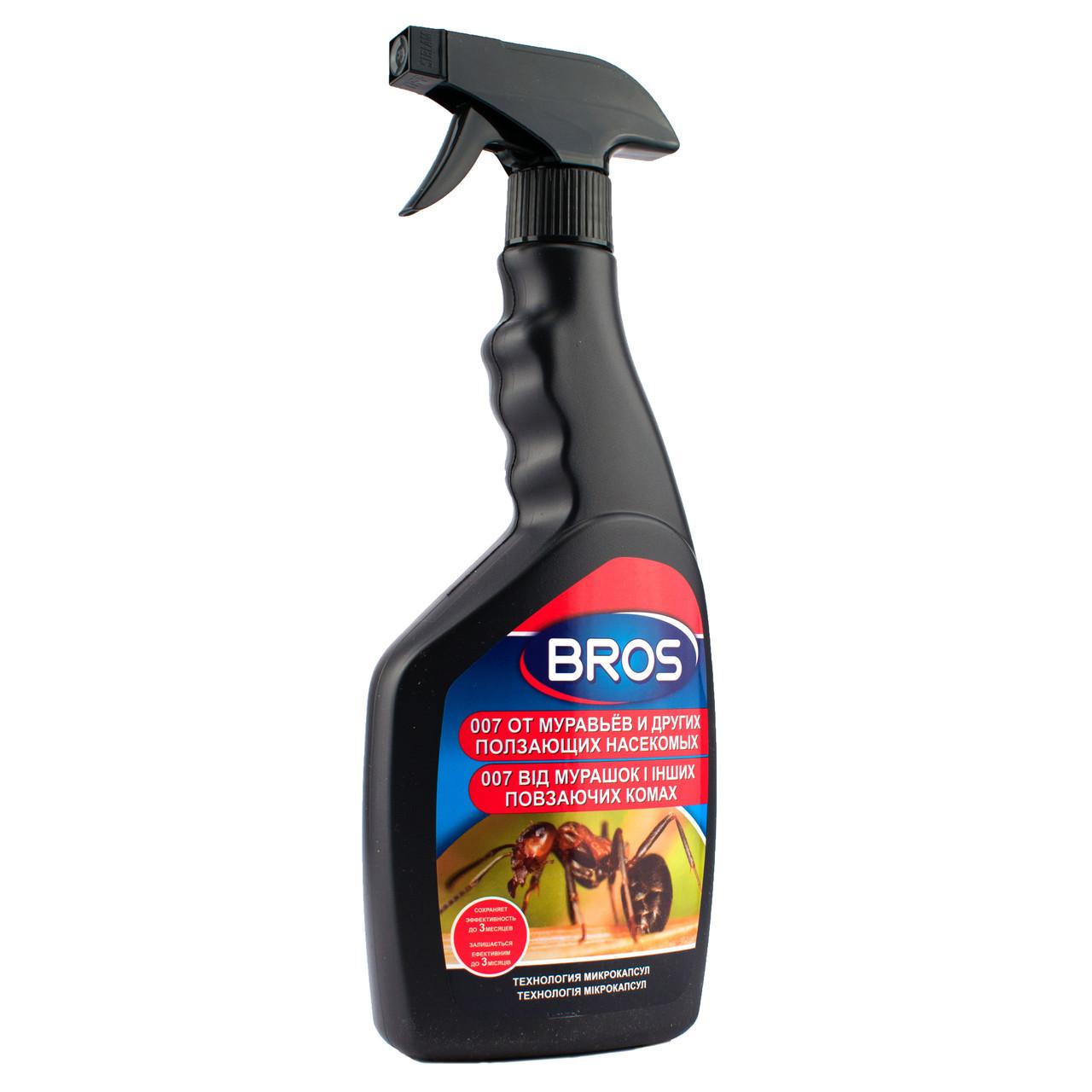 Спрей для знищення мурах та інших повзаючих комах 500 мл, BROS