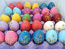 Свечи декоративные Пасхальные яйца цветные ХВ  6,5*4 см