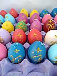 Свечи декоративные Пасхальные яйца цветные ХВ  6,5*4 см, фото 2