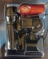 Велосипедный фонарь, фара с линзой и ZOOM с креплением на руль +стоп габарит маячек.