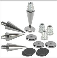 Комплект шипов для акустики : шипы, подпятники, войлочный виброизолятор.