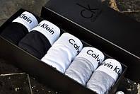 Комплект мужских трусов Calvin Klein 5 шт в подарочной упаковке Боксеры трусы шорты кельвин кляйн