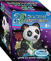"""Набор для творчества 3D Волшебная аппликация """"Панда"""" 1 Вересня"""