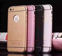 Кожаный чехол-накладка для телефона Bumper+Rubber back IPhone 6 Gold
