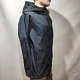 Мужская кофта ветровка на молнии с капюшоном в стиле Пума, фото 3