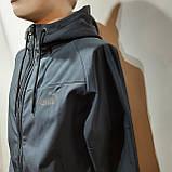 Мужская кофта ветровка на молнии с капюшоном в стиле Пума, фото 4
