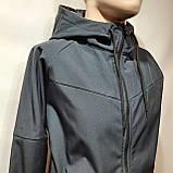 Мужская кофта ветровка на молнии с капюшоном в стиле Пума, фото 5