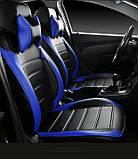 Чехлы на сиденья Фольксваген Кадди (1+1 = передние сидения) модельные MAX-L из экокожи Черно-синий, фото 3