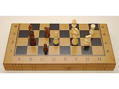 Шахматы 3 в 1 бамбук 34 х 34 см