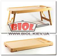 Стол раскладной для завтрака, ноутбука, бежевый 60х33х27,5см Консенсус, фото 1