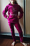 """Дитячий велюровий костюм """"Моя маленька принцеса"""" розмір 40 і 42, фото 4"""