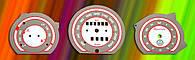 ProSpirit - Накладки на панель приборов для  VOLKSWAGEN, White & Purple, P1-03