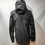 L,XXL р. Чоловіча куртка весняна Adidas Адідас репліка демісезонна чорна, фото 5