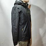 L,XXL р. Чоловіча куртка весняна Adidas Адідас репліка демісезонна чорна, фото 4
