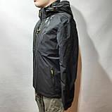 L,XXL р. Чоловіча куртка весняна Adidas Адідас репліка демісезонна чорна, фото 7