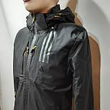 L,XXL р. Чоловіча куртка весняна Adidas Адідас репліка демісезонна чорна, фото 2