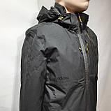 L,XXL р. Чоловіча куртка весняна Adidas Адідас репліка демісезонна чорна, фото 3