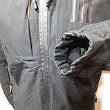 L,XXL р. Чоловіча куртка весняна Adidas Адідас репліка демісезонна чорна, фото 8