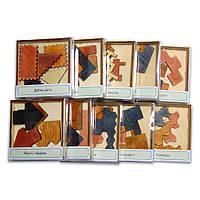 Набор деревянных головоломок-укладок 10 штук