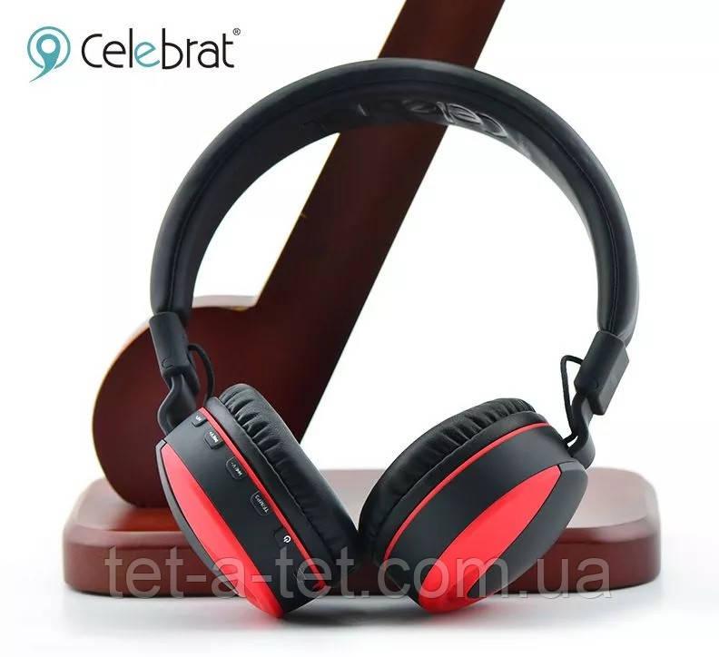 Беспроводные Bluetooth наушники Celebrat A9 Wireless Headset Shoked Bass Red