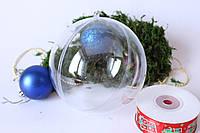Шар  (основа) для новогодней игрушки 8 см разъемный