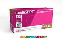 Одноразовые перчатки MedaSEPT Антибактериальные неопудренные Antibacterial PF