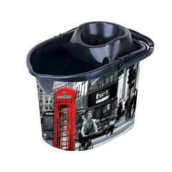 Ведро для швабры с отжимом Elif Лондон 381