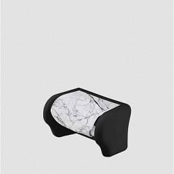 Пластиковий тримач для туалетного паперу Білий мармур Elif 386