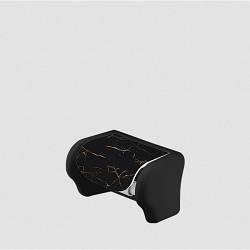 Пластиковий тримач для туалетного паперу Чорний мармур Elif 386