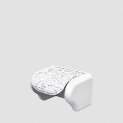 Пластиковий тримач для туалетного паперу Ажур білий Elif 386