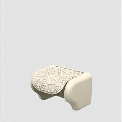 Пластиковий тримач для туалетного паперу Ажур бежевий Elif 386