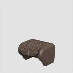 Пластиковий тримач для туалетного паперу Ажур коричневий Elif 386