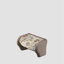 Пластиковий тримач для туалетного паперу Папуги Elif 386