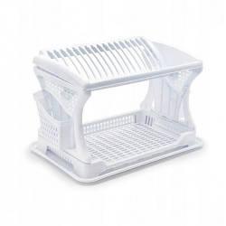 Сушка для посуду двоярусне Білий Dunya 07201