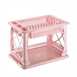 Сушарка для посуду Рожевий Elif 306