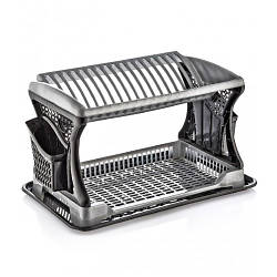 Сушка для посуды двухярусная Металлик Dunya 07201
