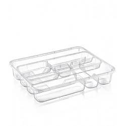 Лоток для столовых приборов со вставкой Dunya 14008 Прозрачный