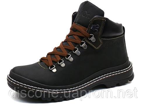 Ботинки зимние мужские на меху Gekon 4810 Casual 221BCM кожаные черные