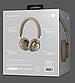 Беспроводные Bluetooth наушники Hoco W10 Cool Yin Wireless Headphone Brown\Gold, фото 3