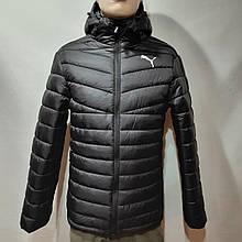52 р. Чоловіча куртка весняна Puma Пума репліка демісезонна чорна Останнє залишилося