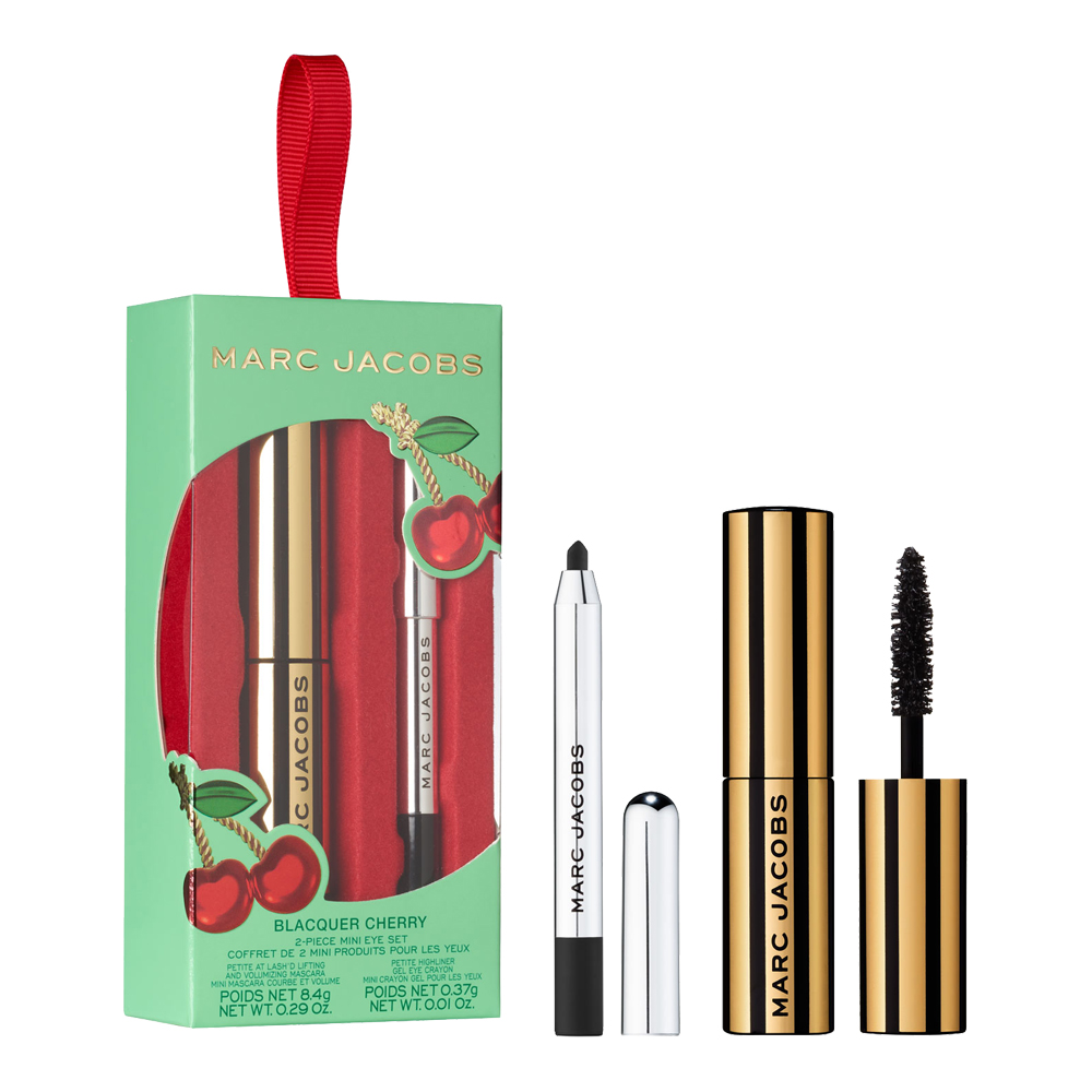 Карандаш для глаз и тушь для ресниц Marc Jacobs Beauty Blacquer Cherry Two Piece Mini Eye Set 8.4 г + 0.37 г