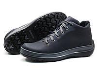 Ботинки мужские кожаные зимние Gekon 4794 Casual 20GVM кожанные серо-синие, р. 40