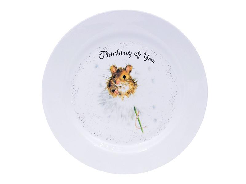 Большая тарелка с мышкой 25см