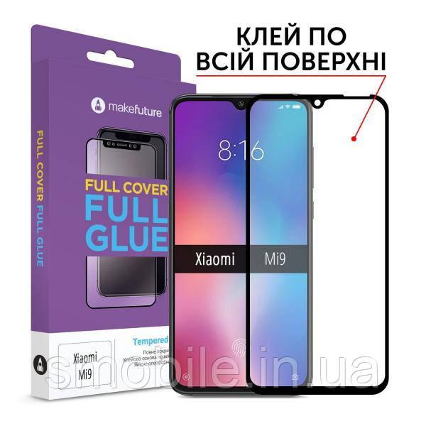 MakeFuture Захисне скло MakeFuture для Xiaomi Mi 9 повноекранне чорне